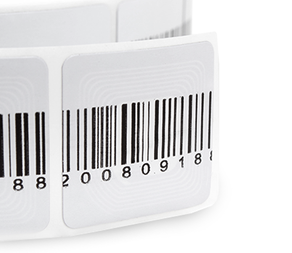 Security Labels RF 31x31mm Barcode
